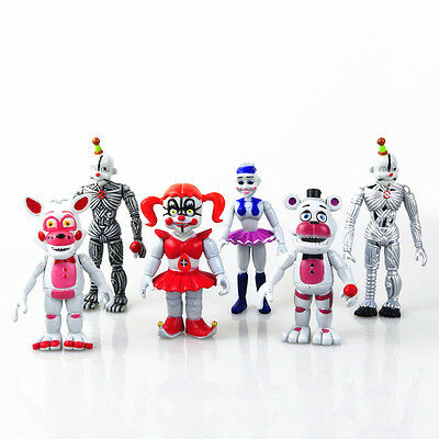2017 Five Nights at Freddy's Action Figures Sister Location FNAF Toy 6pcs New
