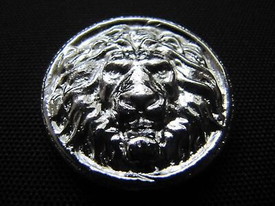 HACMint 3 oz 999+ Fine Silver Hand Poured LION HEAD Coin Round
