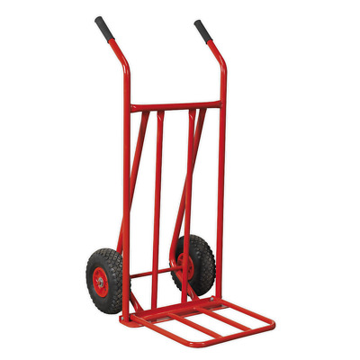 CST800 Sealey Sack Truck with Pneumatic Tyres 150kg Foldable Toe [Sack Trucks]