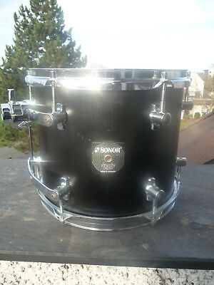 """Sonor Sonic Plus 12"""" Tom ST 1210 Stain Black - Made in Germany"""
