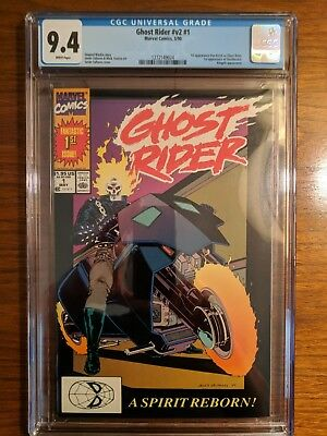 Ghost Rider #1 V2 Cgc 9.4 -1St Appearance Dan Ketch & Deathwatch!!! May 1990