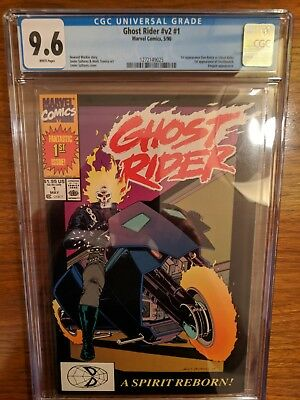 Ghost Rider #1 V2 Cgc 9.6 -1St Appearance Dan Ketch & Deathwatch!!! May 1990