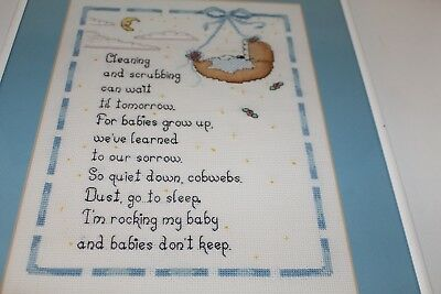 Completed and Framed *Ready to Hang!* Baby Boy Nursery Rhyme/Poem