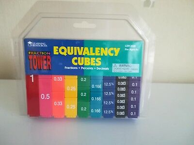 Equivalency Cubes, Fraction Tower by Learning Resources.