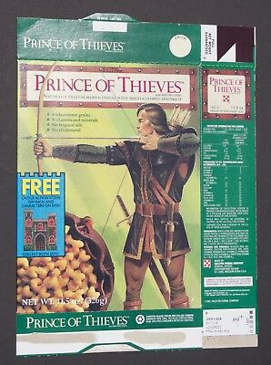 Ralston Prince of Thieves empty cereal box 1991
