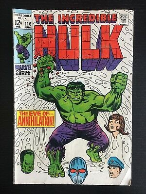 Marvel: Incredible Hulk (1969) #116 Silver Age  GD+ Herb Trimpe Cover