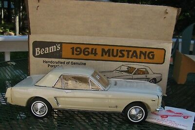 1964 Mustang Beam Decanter, empty.  Man Cave Bar Decor, original box and papers