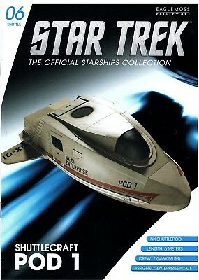 STAR TREK Shuttle Enterprise NX-01 Shuttlecraft Pod Eaglemoss Raumschiffsammlung