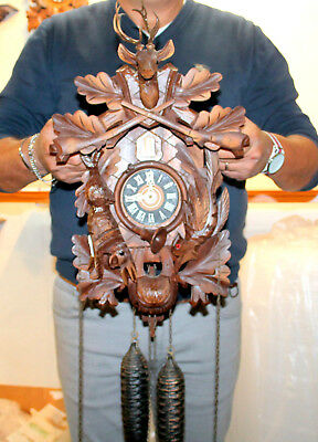 Old Cuckoo Clock Wall clock Cuckoo Black Forest made Germany  REGULA 7 DAYS