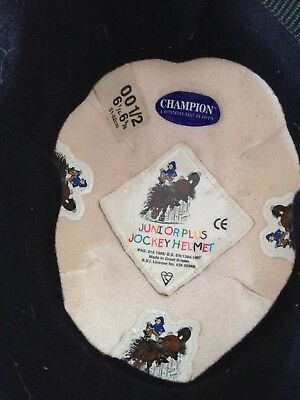 Childrens Horse Riding Hat/Champion Junior Jockey Helmet Size 51-52cm