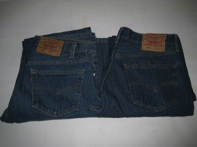 Vintage Lot of 2 PAIRS of USA Levi's 501 Jeans Tag Size 34 X 36