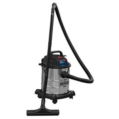 PC195SD Sealey Vacuum Cleaner Wet & Dry 20ltr 1250W Stainless Drum