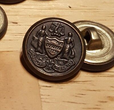 Lot of Approx 60 Philadelphia Maneto Seal Vintage Brass Buttons