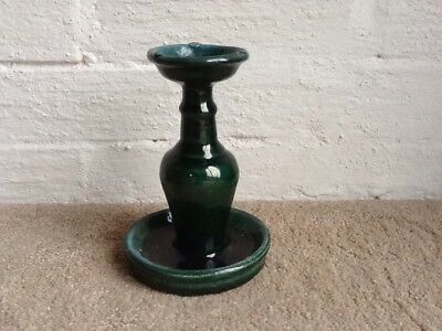 Vintage Chinese Shiwan Pottery Oil Lamp With Mark