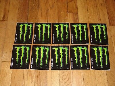 "Monster Energy Drink DECAL STICKER ""5 x 3.5 inches"" Lot of 10"