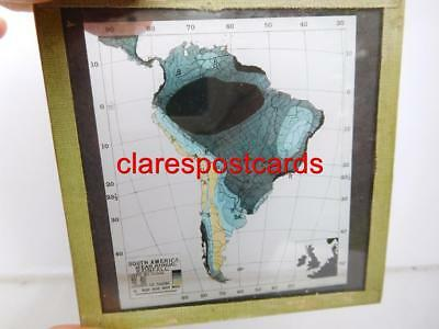 Map South America Rainfall Victorian magic lantern slide thematic geography