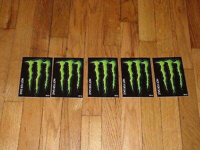 "Monster Energy Drink DECAL STICKER ""5 x 3.5 inches"" Lot of 5"