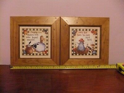 Pair of Small Decorative Framed Pictures