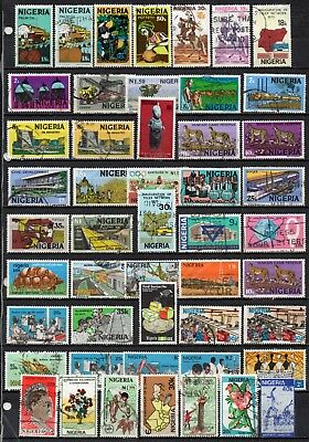 Nigeria very nice mixed era collection ,stamps as per scan(5346)