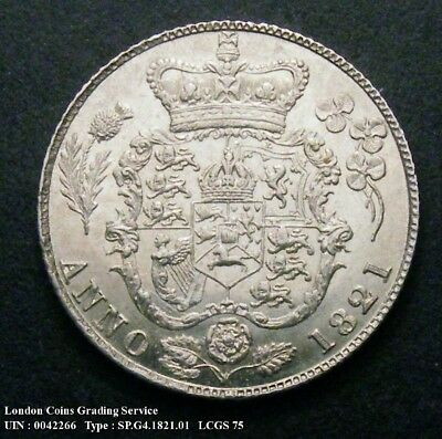A/UNC 1821 Sixpence.LCGS graded and encapsulated LCGS75(MS62-63).