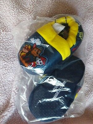 NEW Toddler Boys Paw Patrol Slippers 5/6