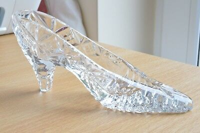 Vintage Tutbury Crystal Cut Glass Cinderella Slipper