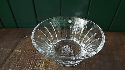 Tyrone Crystal Presentation Bowl from Ulster University Label attached &fine cut