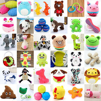 Funny Animal Shape Pet Puppy Dog Toys Soft Plush Sound Squeaky Chew Toy Gifts
