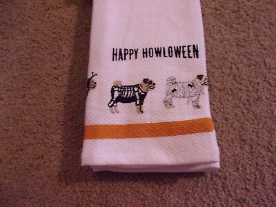 Pug Dogs In Halloween Costumes Kitchen Towels Set of 2