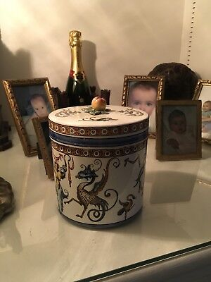 Sweet Box Or Tobacco Jar, Gien Manufacture - French Antique Beautiful Condition