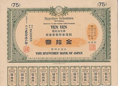 The Hypothec bank of Japan, 4% Bond, 75. Serie, 10 Yen