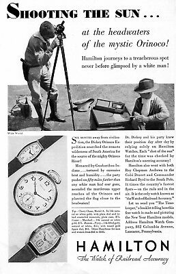 1931 Vintage Ad Hamilton Watches Wristwatches Railroad Accuracy DAMAGED DISCOUNT