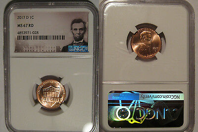 2017 D Lincoln SHIELD Cent 1c NGC MS 67 RD Lincoln Label