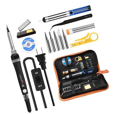 Tabiger Soldering Iron kit with Adjustable Temp 200-450°C and ON/OFF Switch, 60W