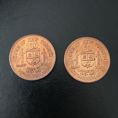 vintage 1963 Town of New Toronto coins 50th Anniversary New Toronto 1960's