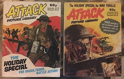 Fleetway Library ATTACK Picture Library War Comics - 1983+1984 HOLIDAY SPECIALS