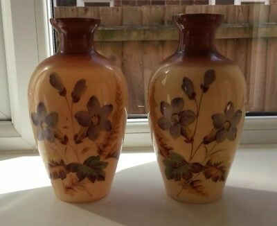 Pair Of Victorian Opaque Glass Vases