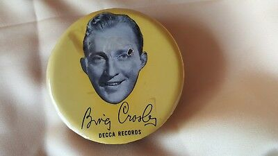 Collectible vintage Bing Crosby record cleaner Advertising for Decca records