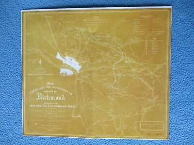 # Civil War Map - The Approaches to Richmond, Virginia, Babcock Map - FRAME IT