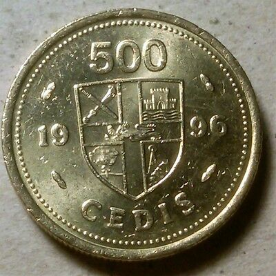 Ghana 500 cedis 1996 old UK pound-shaped coin