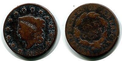 1825 Large Cent Liberty Coronet Penny Coin