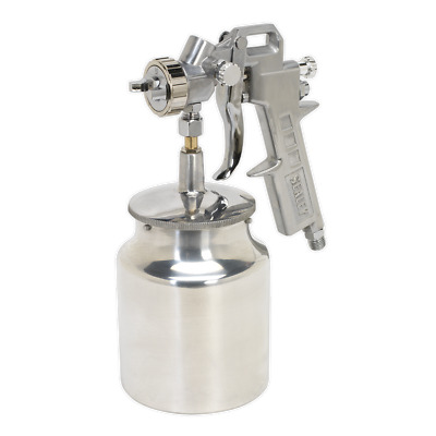 SSG2 Sealey Spray Gun Suction Feed General Purpose 1.5mm Set-Up
