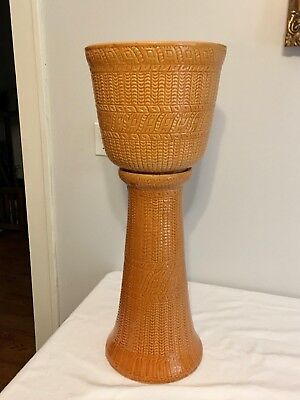 Robinson Ransbottom Pottery Co. Mid-Century Jardiniere With Stand