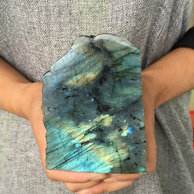 1LB Natural labradorite quartz rough gemstone crystal specimen healing AV3344