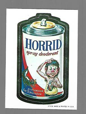 1967 Topps Wacky Packages Die Cut #30 HORRID