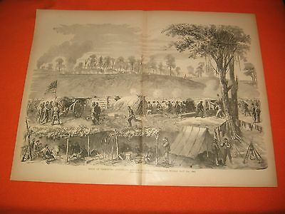 1884 Civil War Print - Siege of Vicksburg - Attack on Confederate Works May 1863