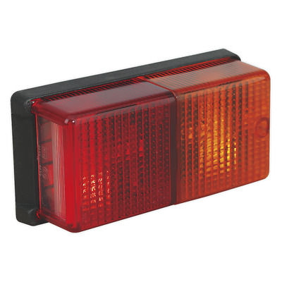 TB19 Sealey Rear Rectangular Lamp Cluster 4-Function 12V with Bulbs