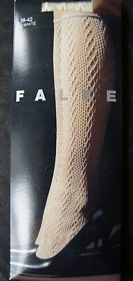 Falke Off White Cable Knit Patterned Knee Highs