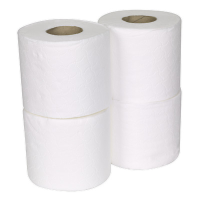TOL36 Sealey Toilet Roll Plain White Pack of 4 x 9 (36 Rolls) [Miscellaneous]