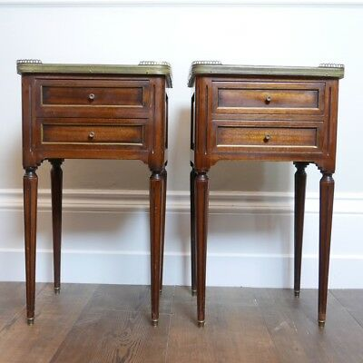 Pair of Antique French Bedside Tables